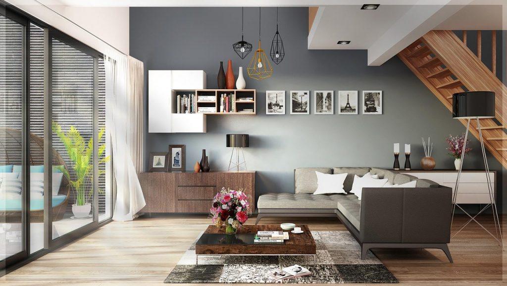 Wohnzimmer im Feng Shui Luxus-Appartement