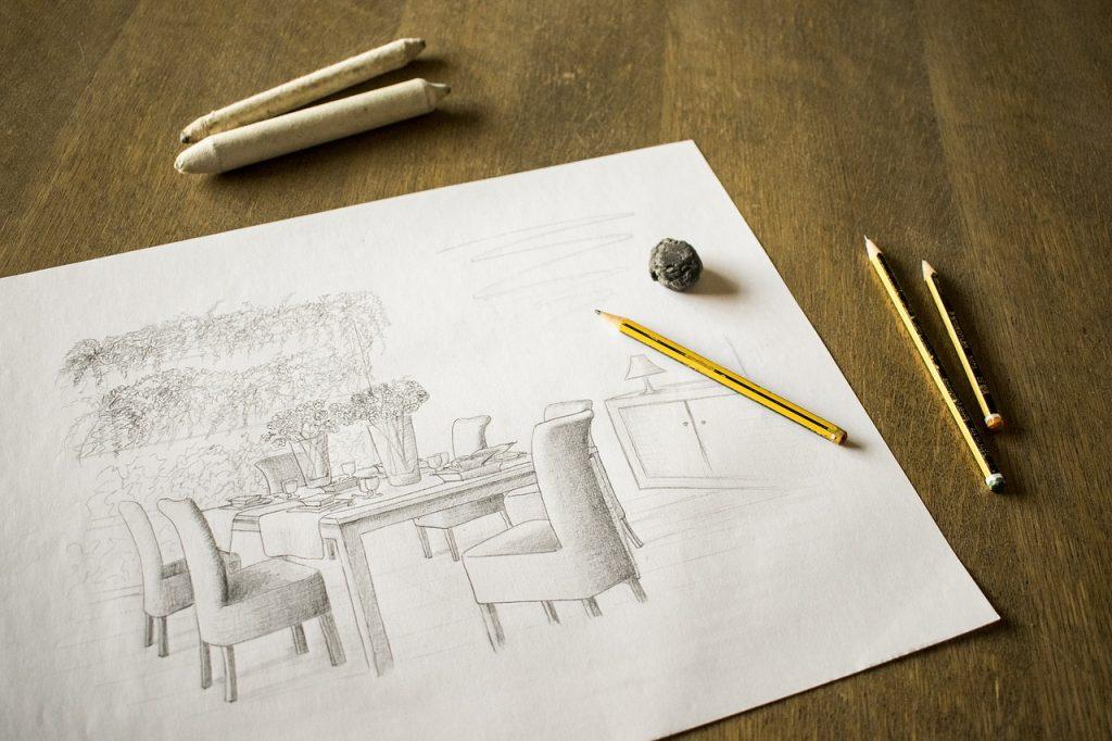 Feng Shui Luxus-Appartement mit individuellen Zeichnungen